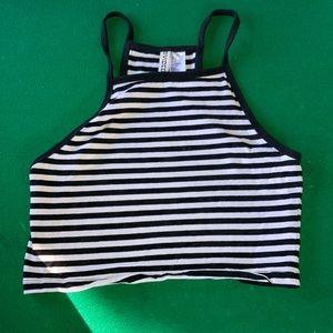 H&M striped halter top